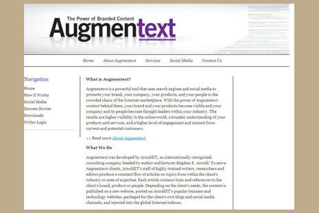Augmentext screen