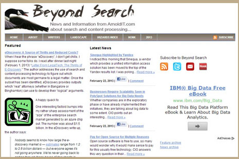 Beyond Search screen