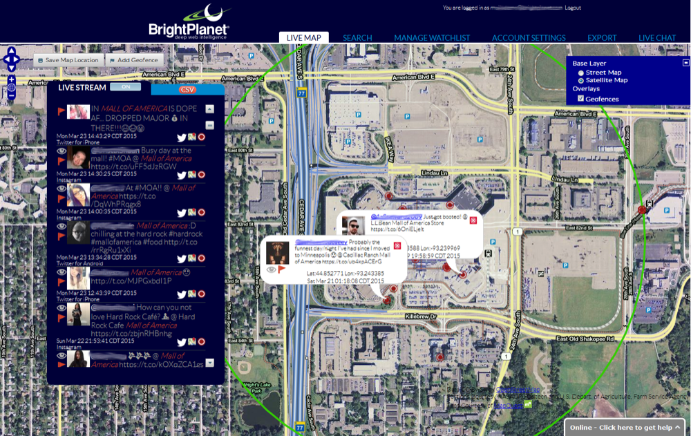 BlueJay map view